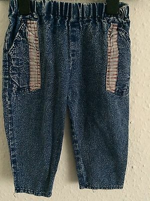 Vintage 90s Kids Americana Unisex Denim Grunge Classic Jeans Trousers 1 2 Y