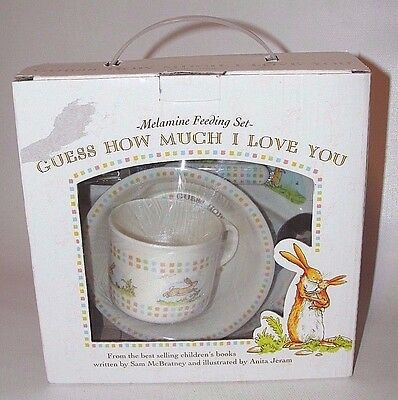 Guess How Much I Love You 5 Piece Feeding Set ~ Bunny Rabbit ~ Great Easter Gift