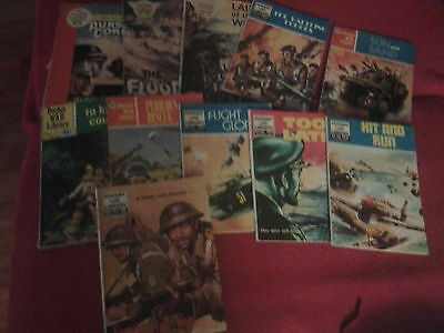 11 Assorted War picture library comics