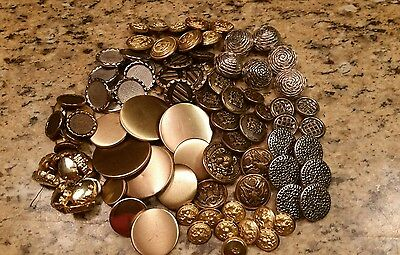 Vintage  gold and silver Military mixed buttons