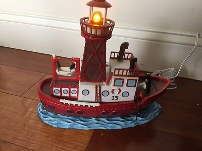 Lemax Village Collection Lightship With Adaptor # 45730