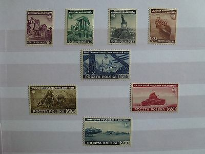 STAMPS: POLAND, Government-in-Exile 1941, Mint, See scans