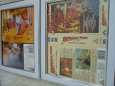 Young indiana jones Train of doom & cic Temple Bundle Cover Vhs sleeves Framed