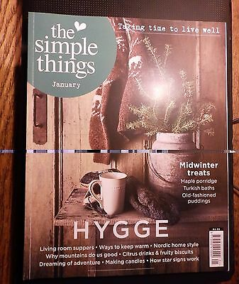 The Simple Things magazine. January 2017. Read but VGC