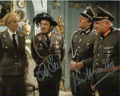 'Allo 'Allo Photo Signed By Ken Morley and Guy Siner - B367