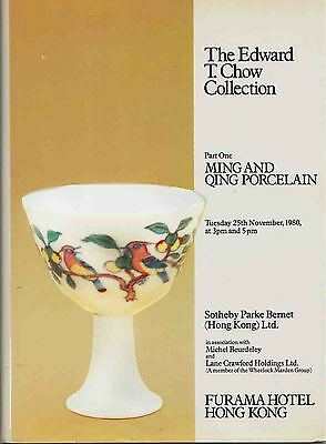 Sotheby´s Edward T Chow Collection Ming and Qing Porcelain 1890 catalog LIKE NEW
