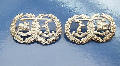 A Pair of Argyll and Sutherland Highlanders Collar Titles.