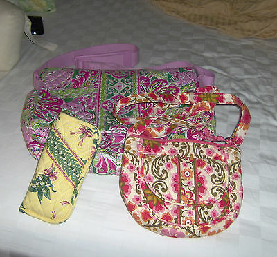 VERA BRADLEY LOT~HIPSTER PURSE~WEEKENDER & double EYEGLASS CASE