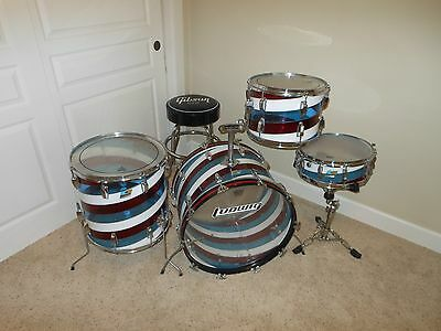 VINTAGE 70s LUDWIG VISTALITE KIT WITH MATCHING SNARE - RARE PATTERN C