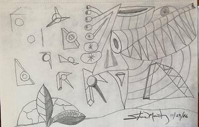 Formerly Hidden. Original drawing. Small. Abstract. Pencil. Free hand.