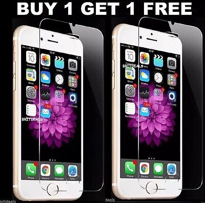 New 100% Genuine Tempered Glass Screen Protector For Apple Iphone 6/6S/7