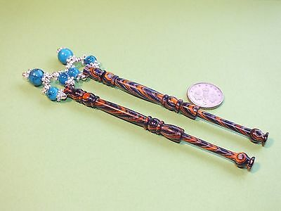 Jazz up that lace pillow with these multi colour lace bobbins.   (Ref 932)