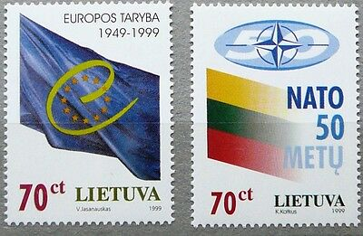 Lithuania stamps - NATO and Council of Europe_1999- MNH.