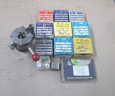 """Geometric 5/16 DSA Threading Head 5/8"""" SK, & 13 Sets of  Chasers 2/56 to 5/16 18"""