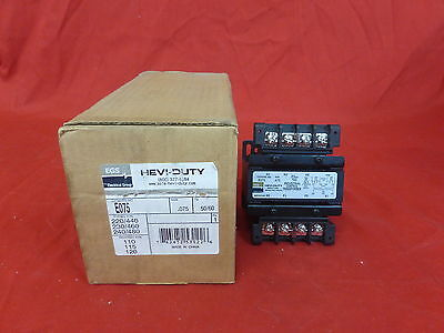 Egs Hevi-Duty E075 +Nib+ Industrial Control Transformer .075Kva 1Ph (5D1)