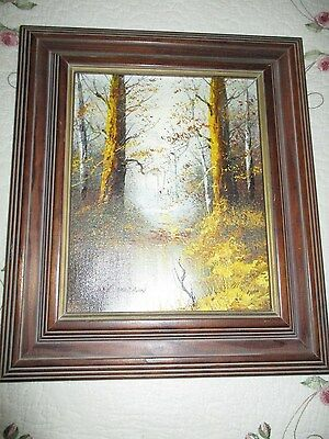 Oil Painting by Carl Madden- Original Signed Landscape on Canvas Wood Frame