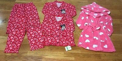 Disney Minnie Mouse Pjs 1 BNWT 1 Lightly Used Dressing Gown 12-18m