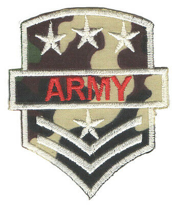 PARCHE bordado en tela MILITAR/AIRSOFT ARMY RANGO 21 EMBROIDERED PATCH