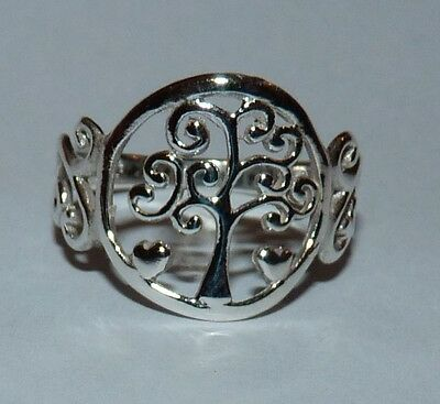 Beautiful Sterling Silver Tree Of Life Ring. Size L. Pagan/Wiccan/Druid.