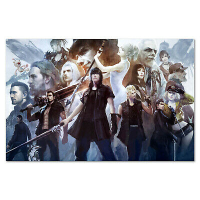 Final Fantasy XV Poster -  All Characters Collage Art - High Quality Prints