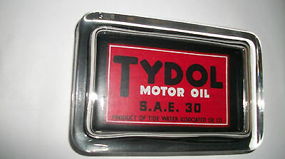 Tydol Motor Oil SAE 30 Gas Station Car Advertising Sign Logo Glass Paperweight