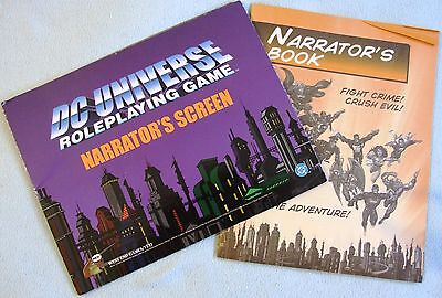 Vintage 1999 DC Comics - DC UNIVERSE Role Playing Game - Narrator's Screen