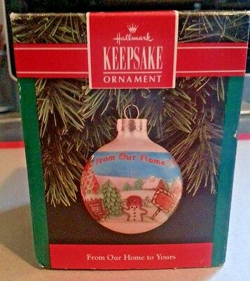 Hallmark Keepsake Ornament  From Our Home to Yours 1992 NIB