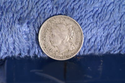 1866 3 Cent Nickel US Coin