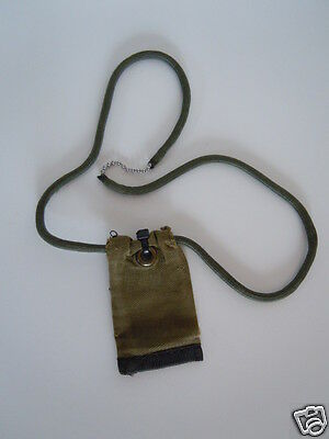 Israel Army combat Soldier ORIGINAL SILVER METAL DOG TAG + Chain + COVER RARE