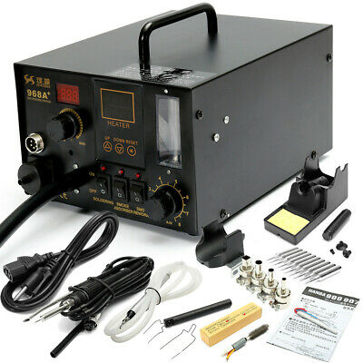 [NEW] 968A+ 4 in1 220V Digital Hot Air Rework and Soldering Station SMD Fume Ext