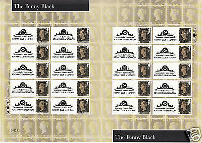 """2015 TS-498 """"The Penny Black"""" Smilers Sheet - ONLY 15 SHEETS PRODUCED - V. RARE!"""