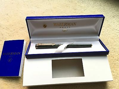 Vintage Waterman Paris Green Marble Ball Point Pen - No Logos - Mint In Box!