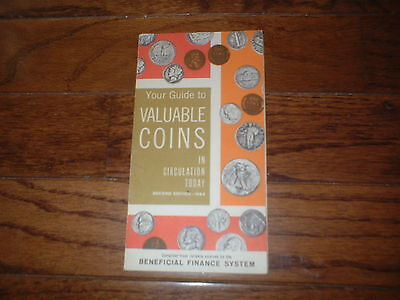 1964 Beneficial Finance System Guide to Valuable Coins Tri-Fold Brochure Bank