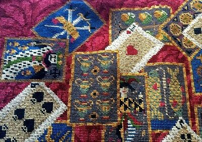 Ehrman Designer CANDACE BAHOUTH tapestry needlepoint chart PLAYING CARDS CUSHION