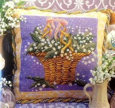 Ehrman Designer Candace Bahouth LILY OF THE VALLEY CUSHION Tapestry Chart Only