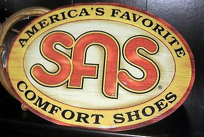 SAS metal shoe sign 17.5 x 24.5 inches