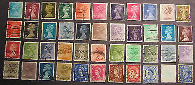 UK Great Britain Stamps Lot Elizabeth II Used NG