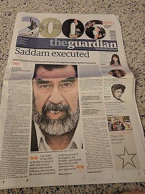 Vintage Newspaper The Guardian Weekend Edition 30Th Dec 2006 Saddam Executed