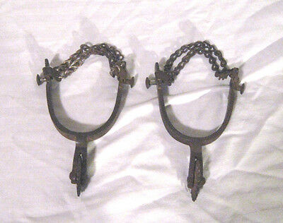 Vintage Cowboy Spurs Stamped With Anchor 20 P0Int Spur No Leather Good Condition
