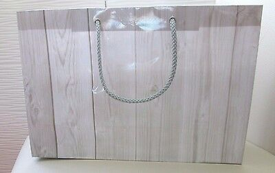 40 Silver Grey Shopping Party Gift Christmas Bags H20 X L30 X W10 Cm