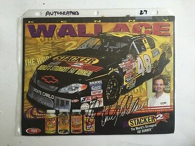 Autographed Kenny Wallace #48 Monte Carlo Signed 8x10 Hero Card w/COA