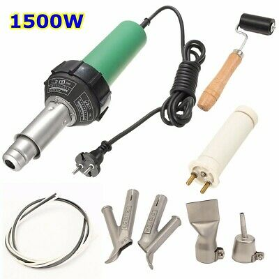 [NEW] 1500W Plastic Welding Hot Air Gun with 2Pcs Speed Welding Nozzle and Extra