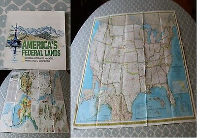 1982 National Geographic Map of the Federal Lands of United States of America.