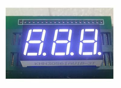5pce 7 segment, 3 digit white  led common anode displays 0.56""