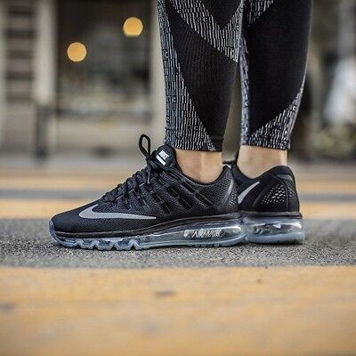 Women's Nike Air Max 2016 Running Gym Black Reflect Silver Uk Size 5 807236-001
