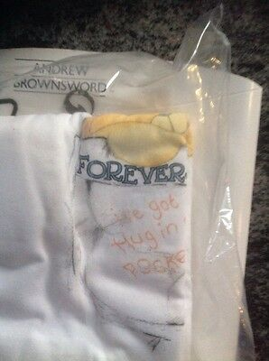 Forever Friends Bear 'T Shirt' One Size Fits All Brand New In Original Packaging