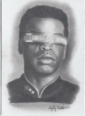 Star Trek 50Th Anniversary (2017) Emily Tester Artifex Original Geordi La Forge