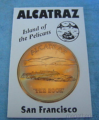 Vintage Alcatraz Souvenir Token or Coin: The Rock; Iconic Former Prison;