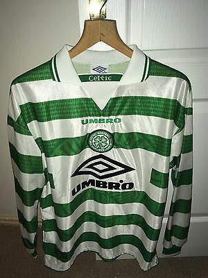Celtic FC Home Shirt 1997-1999. Long Sleeved Size Large