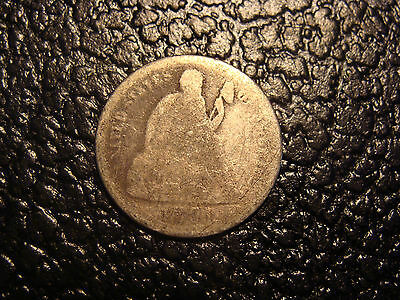 1891 Seated Liberty Dime Ungraded WE COMBINE ON SHIPPING